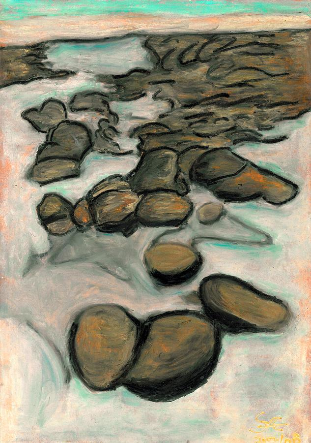 Low Tide Painting - Low Tide by Carla Sa Fernandes