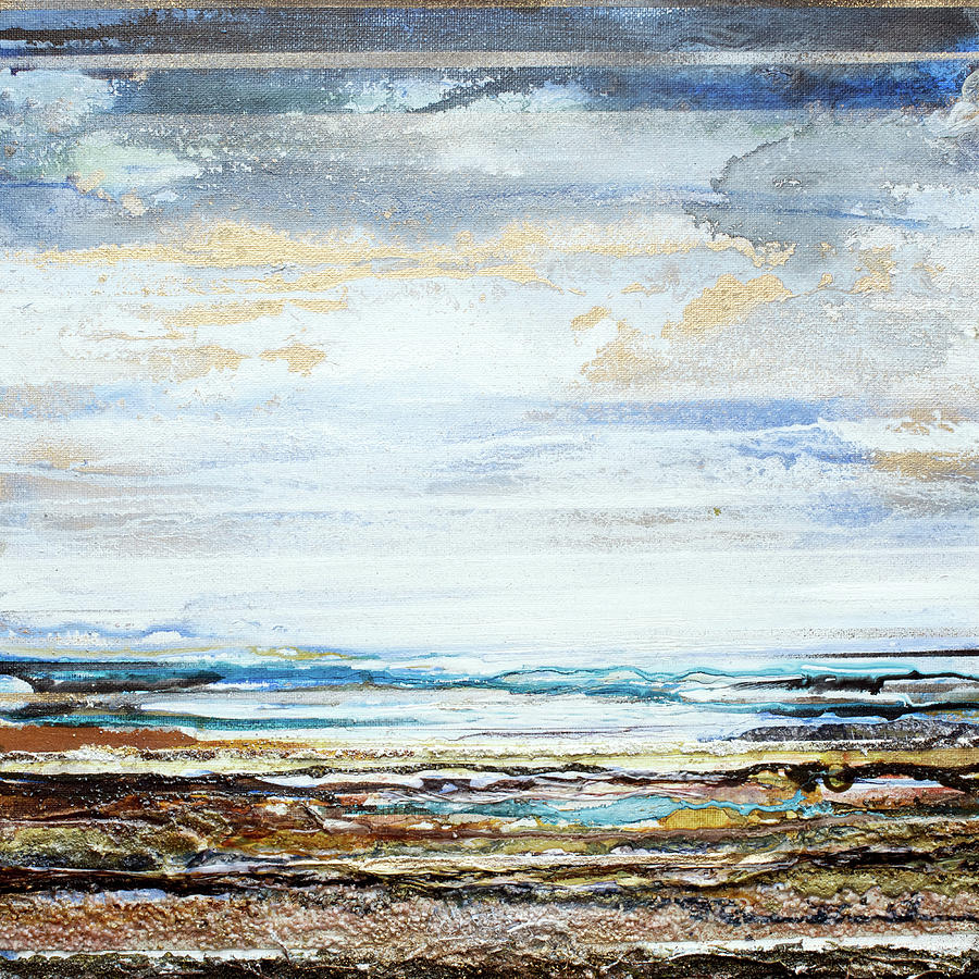 Seascape Mixed Media - Low Tide Hauxley Haven No10 by Mike   Bell