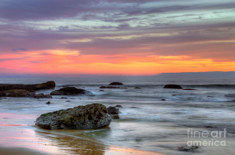 Low Tide Photograph - Low Tide In Newport Beach by Eddie Yerkish