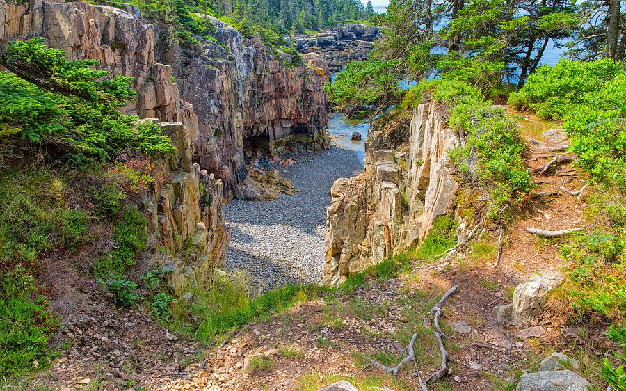 Low Tide in Schoodic Maine by John M Bailey