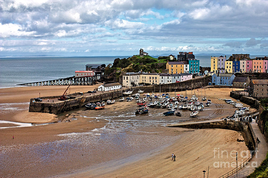 Low Tide in Tenby Harbour by Jeremy Hayden