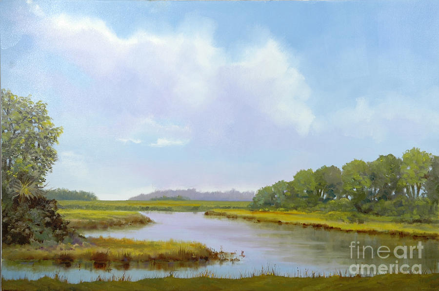 St. Simons Painting - Lowcountry Afternoon by Glenn Secrest