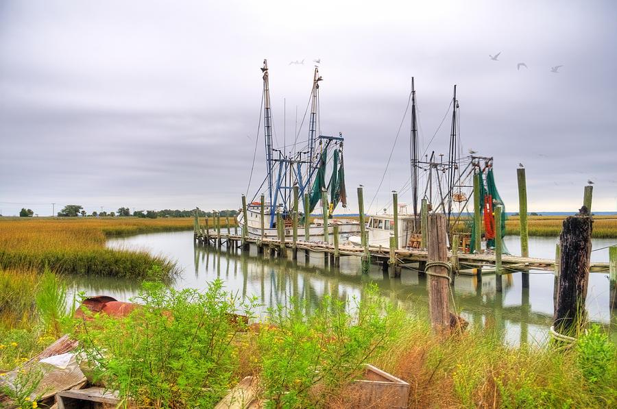 Shrimp Boat Photograph - Lowcountry Shrimp Dock by Scott Hansen