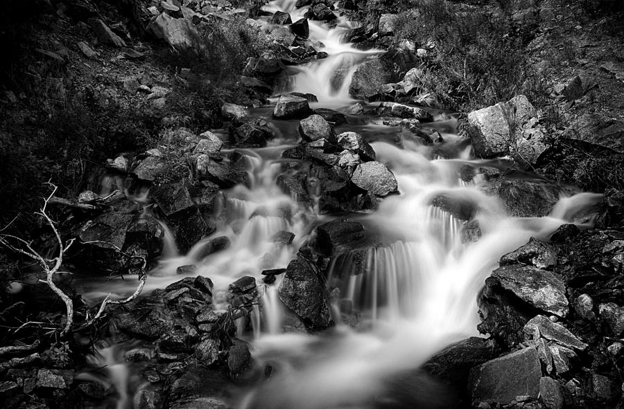 Beautiful Photograph - Lower Bridal Veil Falls 1 Bw by Roger Snyder