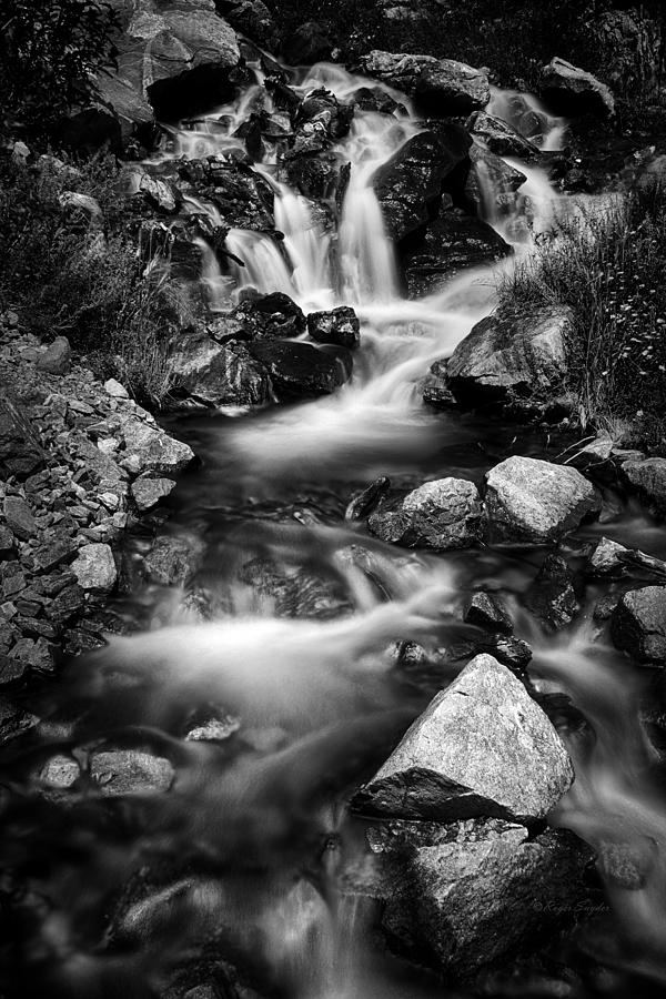 Beautiful Photograph - Lower Bridal Veil Falls 3 Bw by Roger Snyder