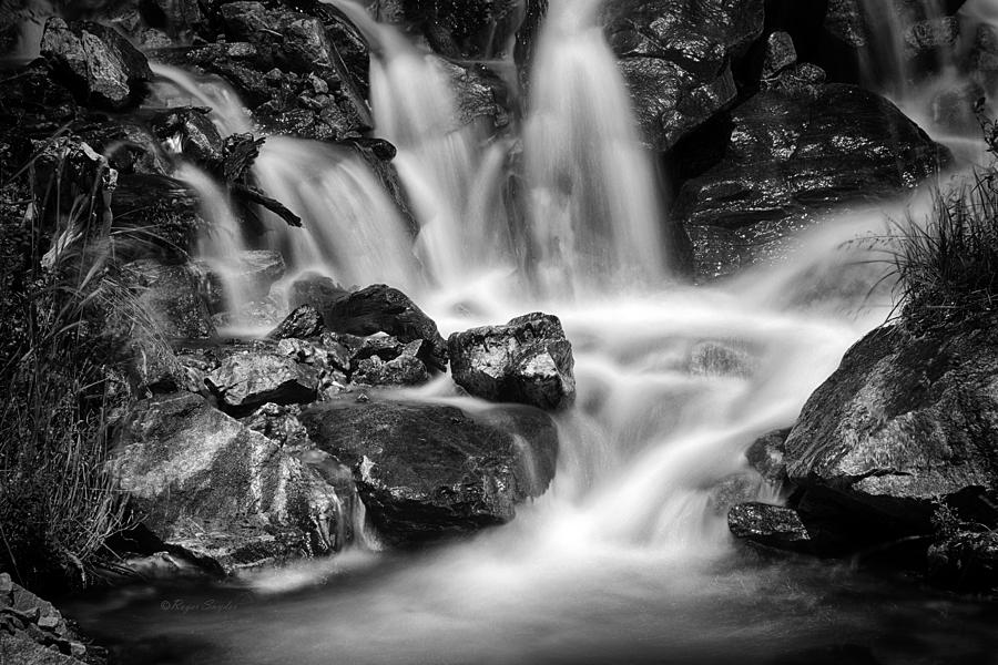 Beautiful Photograph - Lower Bridal Veil Falls 5 Bw by Roger Snyder