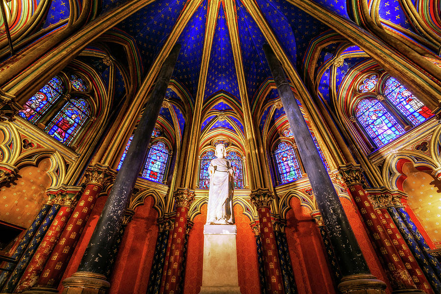 Lower Chapel, La Sainte-chapelle Photograph by Joe Daniel Price