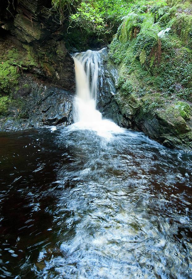 Waterfall Photograph - Lower Fall Pucks Glen by Gary Eason