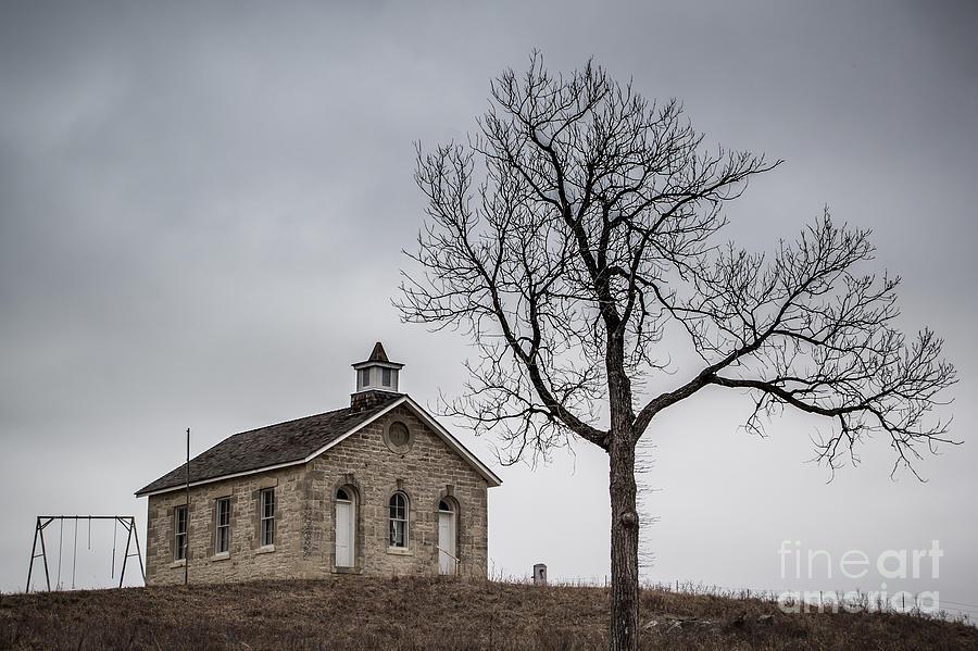 School Photos Photograph - Lower Fox Creek School 1 by Jim McCain
