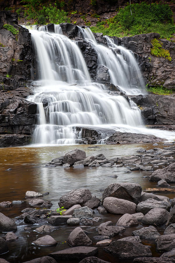 Landscape Photograph - Lower Gooseberry Falls by Randall Nyhof