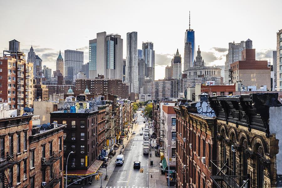 Lower Manhattan cityscape - Chinatown Photograph by FilippoBacci