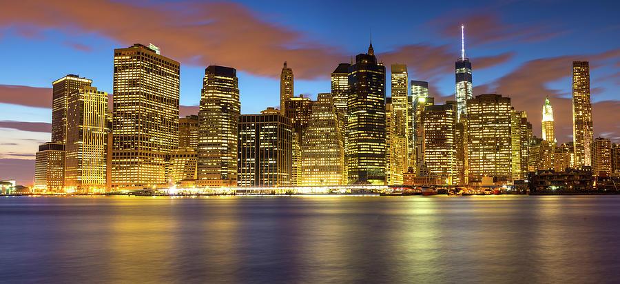 Lower Manhattan Cityscape, New York Photograph by Chris Hepburn