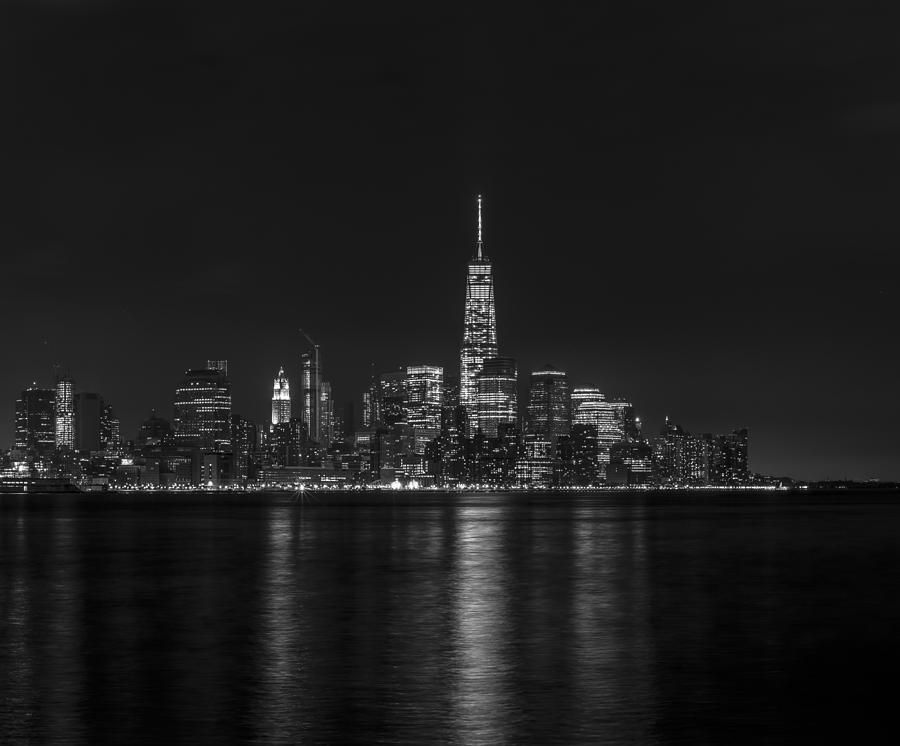 Lower Manhattan Skyline Black And White Photograph