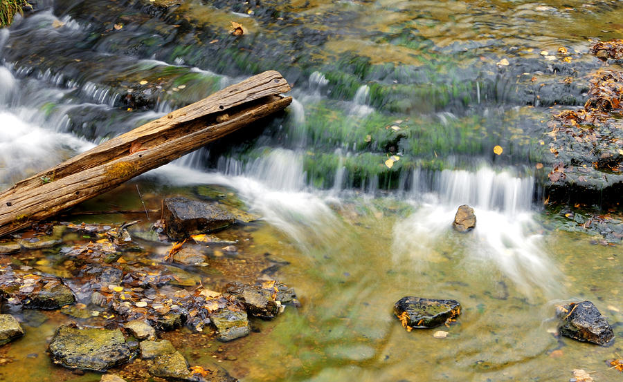 Autrain Falls Photograph - Lower Part Of Au Train Falls by Optical Playground By MP Ray