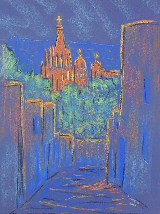Parroquia Pastel - Lower San Miguel De Allende by Marcia Meade