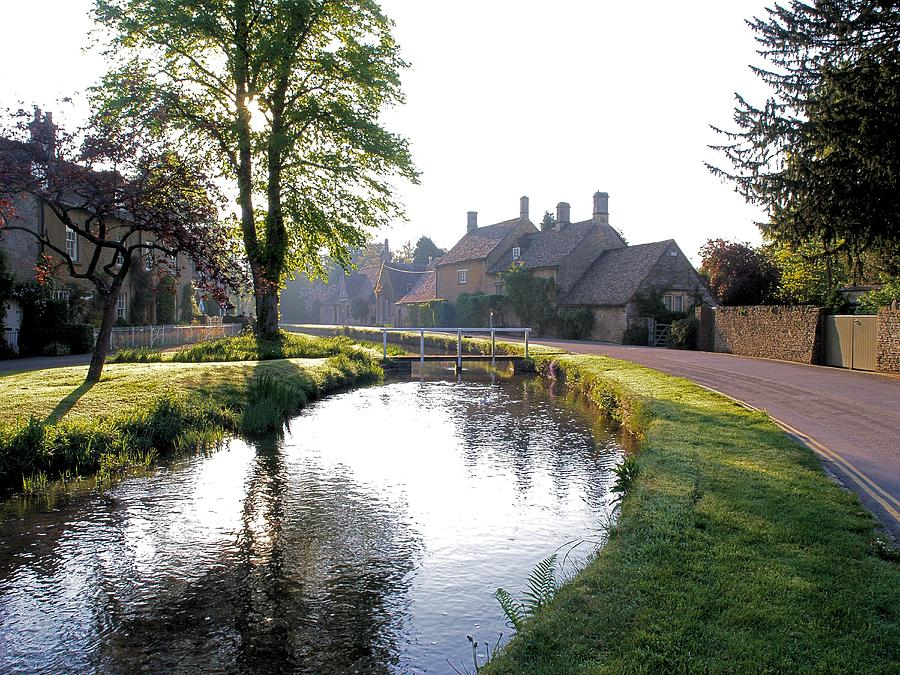 River Photograph - Lower Slaughter by Ron Harpham