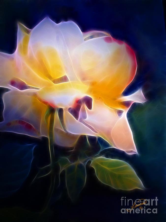 Floral Painting - Loys Rose by Francine Dufour Jones