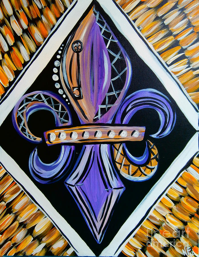 Lsu Fleur De Lis By Natasha Faucheux Amazing Lsu Bedroom Style Painting