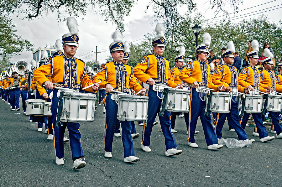 Lsu Photograph - Lsu Marching Band by Steve Harrington