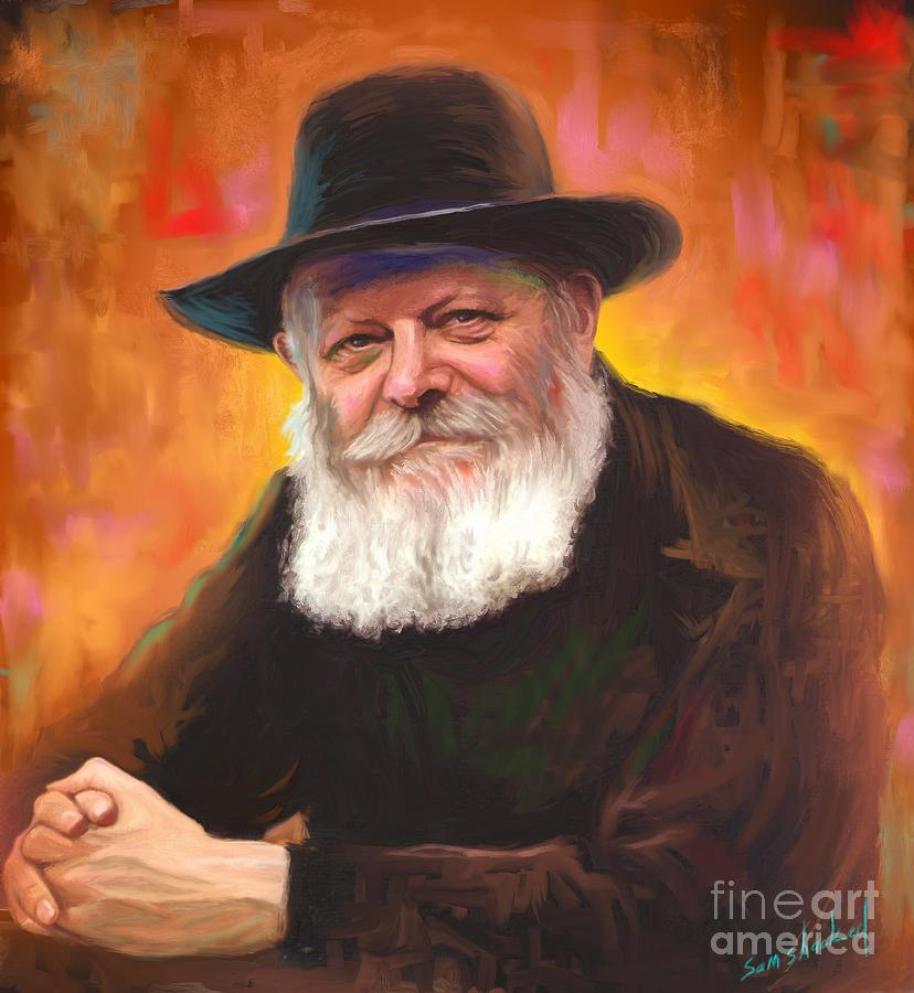 lubavitcher rebbe painting by sam shacked. Black Bedroom Furniture Sets. Home Design Ideas