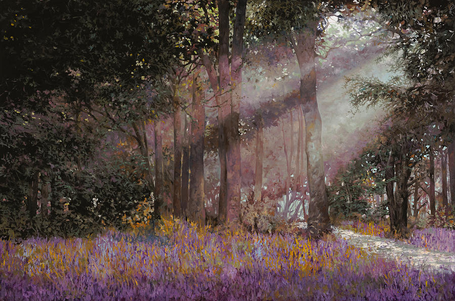 Wood Painting - Luci by Guido Borelli