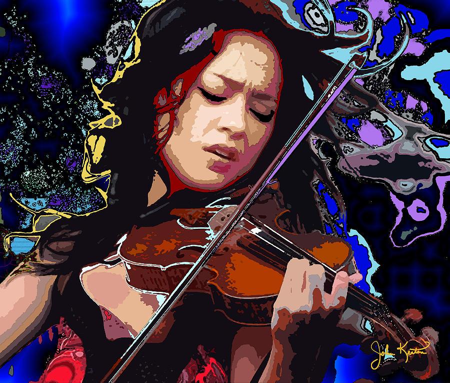 Lucia Micarelli Digital Art - Lucia Micarelli by John Keaton