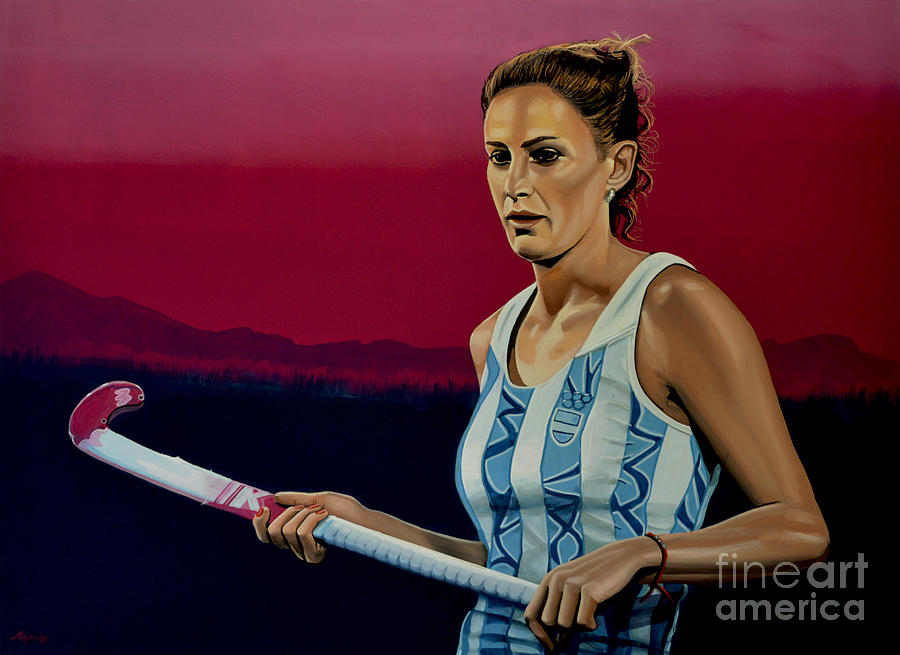 Hockey Painting - Luciana Aymar by Paul Meijering