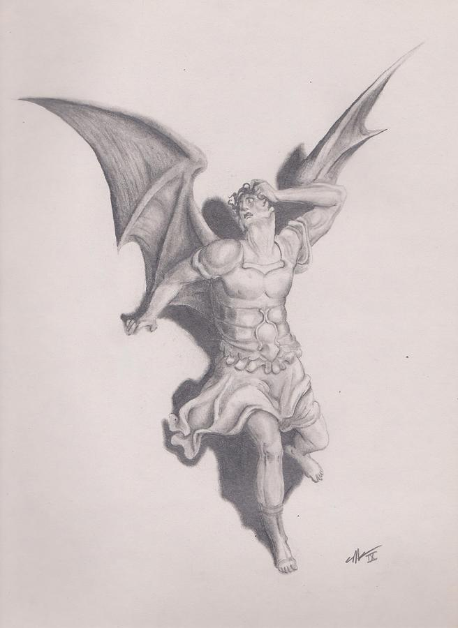 Lucifer Drawing by Crosson Nipper