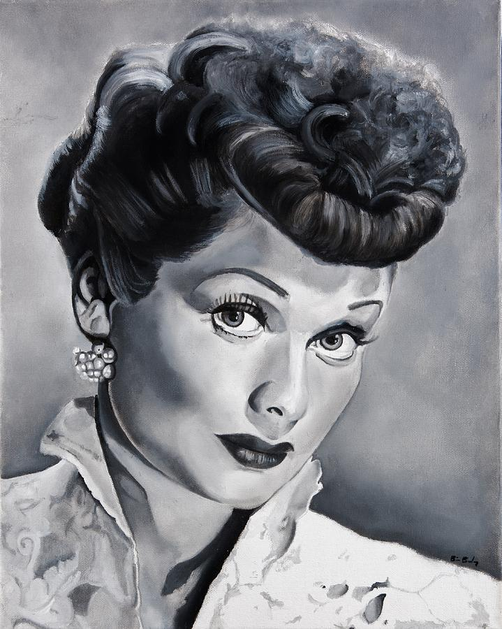 Lucille Painting - Lucille Ball by Brian Broadway