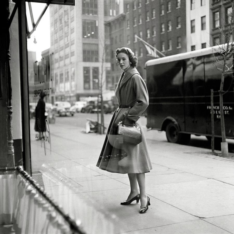 Lucille Carhart Window Shopping On A Street Photograph by Frances Mclaughlin-Gill