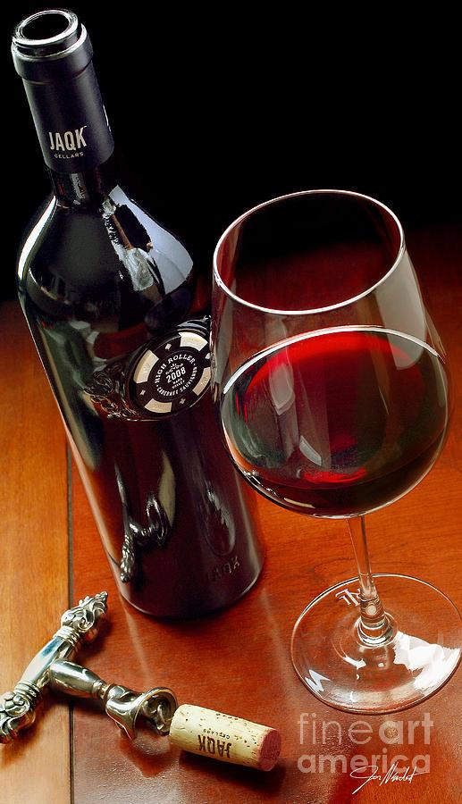 Wine Mixed Media - Luck Of The Draw by Jon Neidert