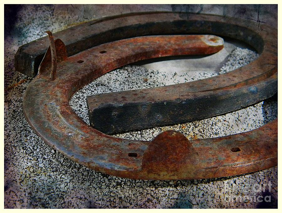 Rusty Horseshoe Photograph - Luck Within by Michelle Frizzell-Thompson