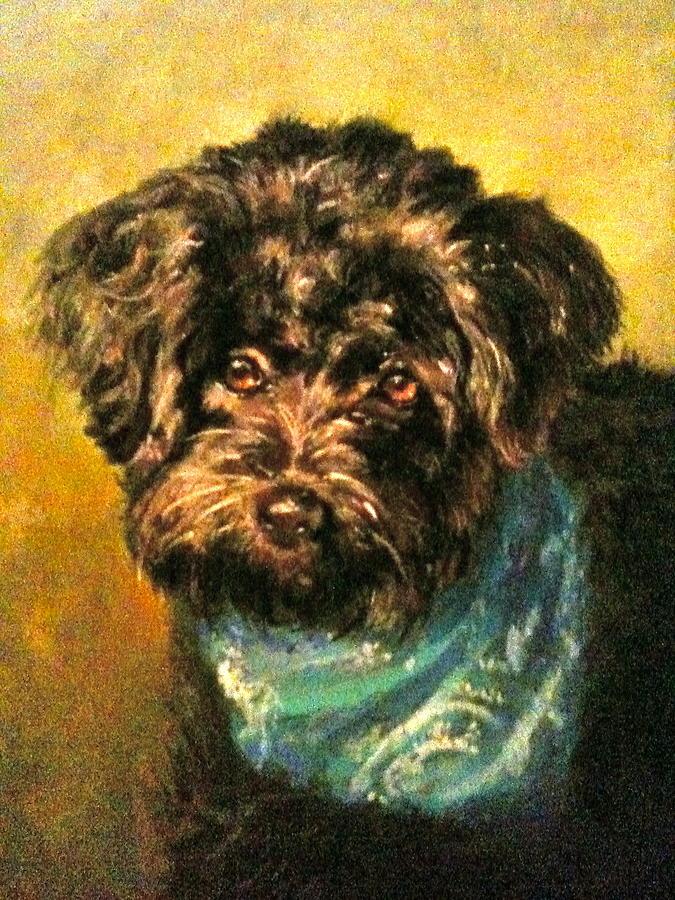 Dog Pastel - Lucky by Janice Harris