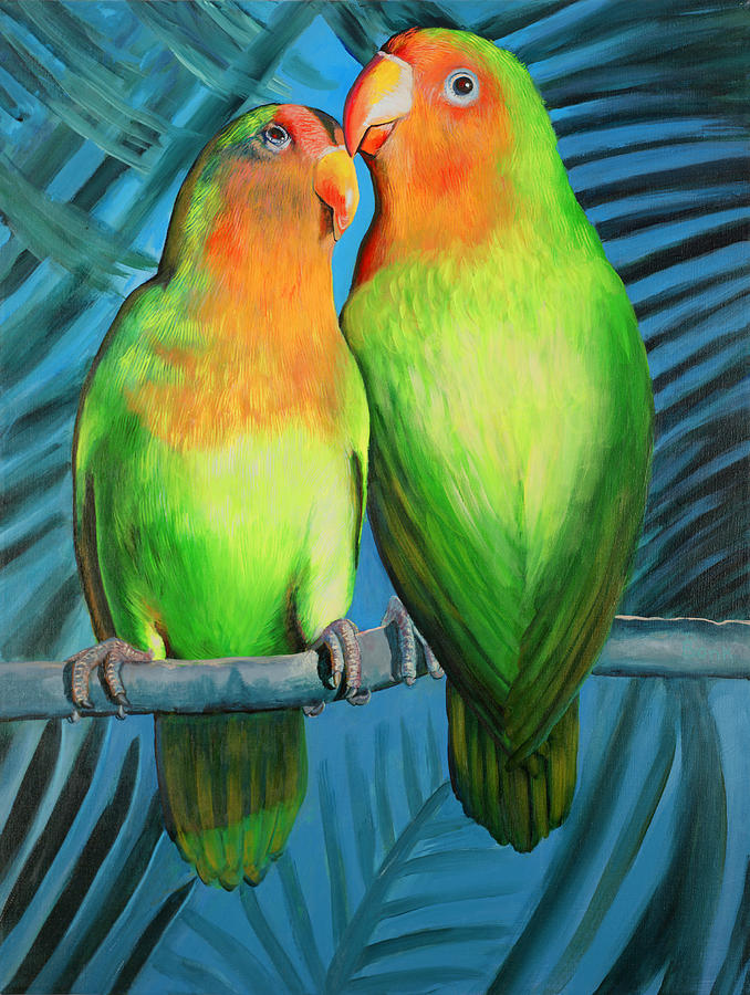 Wildlife Painting - LuckyBird by Peter Bonk