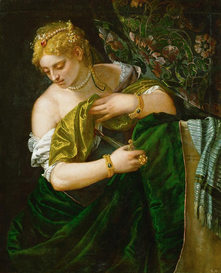 Cinquecento Painting - Lucretia by Paolo Veronese