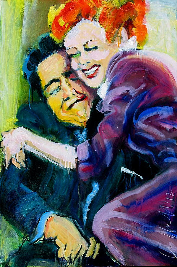 Paintings Painting - Lucy And Ricky by Les Leffingwell