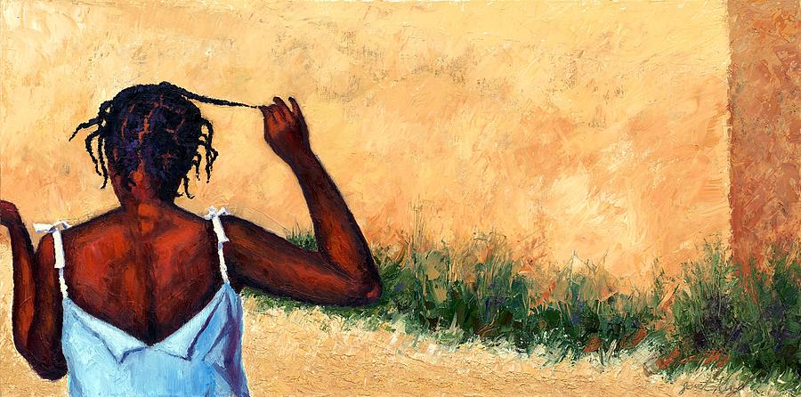 Haiti Painting Painting - Lucie In Haiti by Janet King