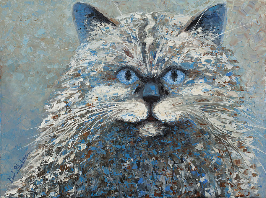 Cat Painting - Lucy by Ned Shuchter