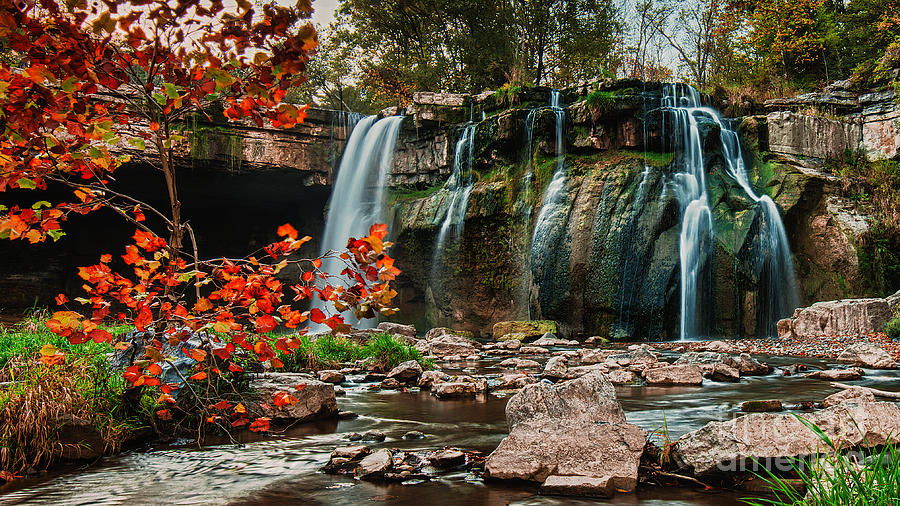 Ithaca Photograph - Ludlowville Falls by Brad Marzolf Photography