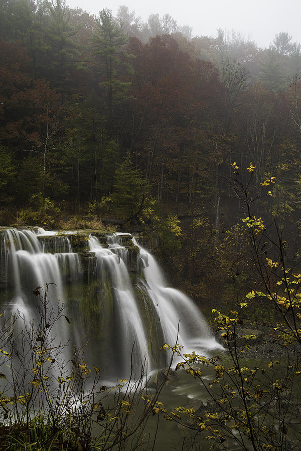 Michele Photograph - Ludlowville Falls In Autumn I by Michele Steffey