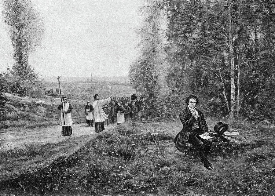 19th Century Painting - Ludwig Van Beethoven (1770-1827) by Granger