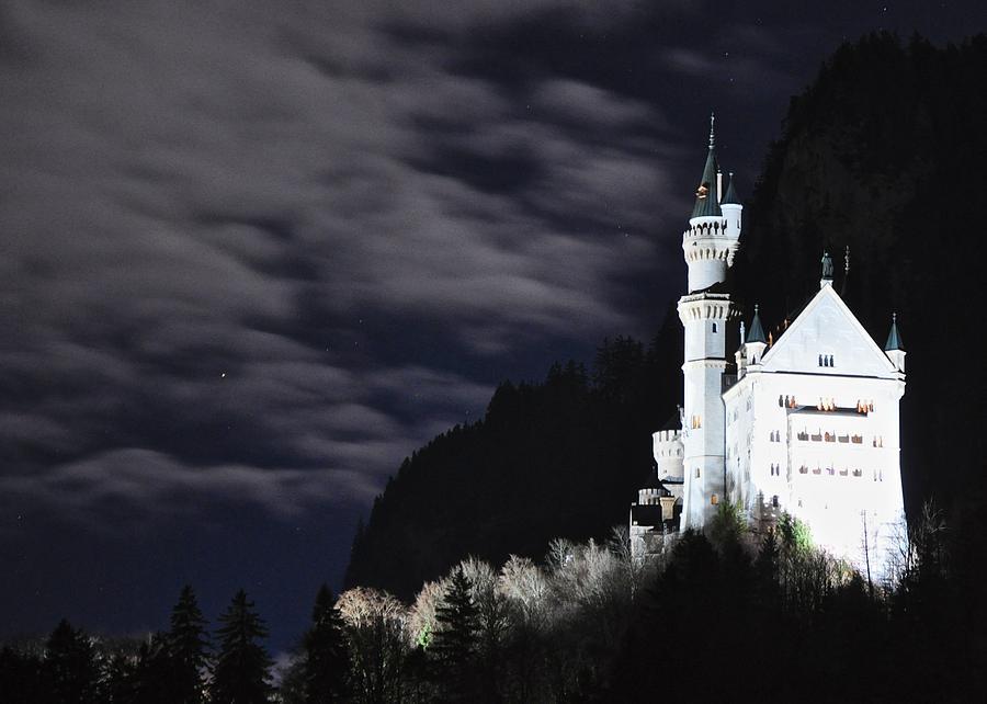 Moonlit Night Photograph - Ludwigs Castle At Night by Matt MacMillan