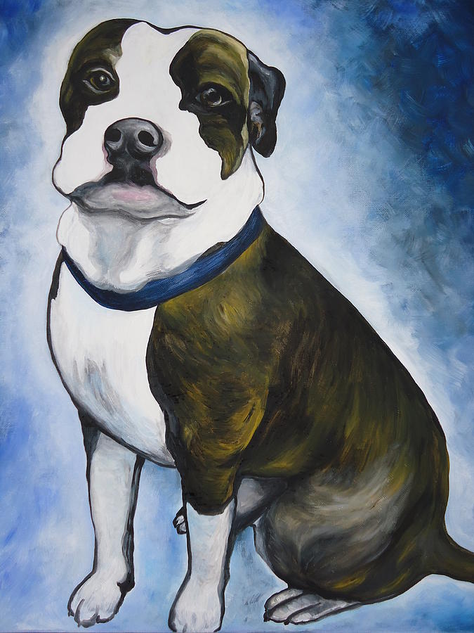 Pittbull Painting - Lugnut by Leslie Manley