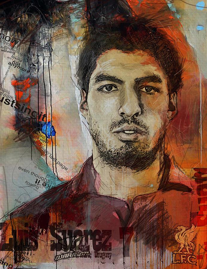 Luis Suarez Painting - Luis Suarez by Corporate Art Task Force