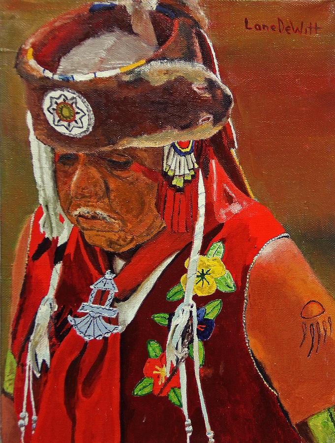 Luise�o Painting - Luiseno Elder by Lane DeWitt
