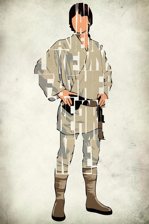 Luke Skywalker Digital Art - Luke Skywalker - Mark Hamill  by Inspirowl Design