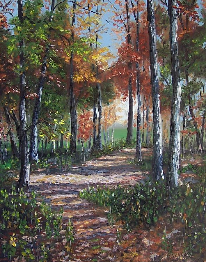 Oil Painting Painting - Lullabye Forest by Donna Munsch