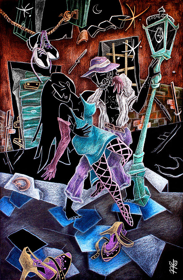Tango Drawing - Lultimo Tango - Artisti Pittori Veneziani Contemporanei by Arte Venezia