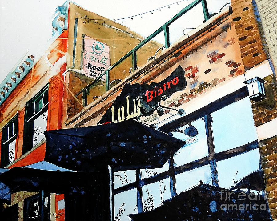 Fort Collins Painting - Lulu Asian Bistro by Tom Riggs
