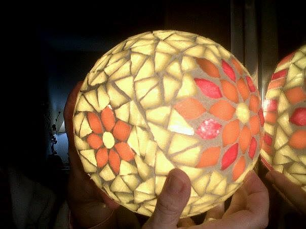 Mosaic Glass Art - Luminaria by Barbara Gude